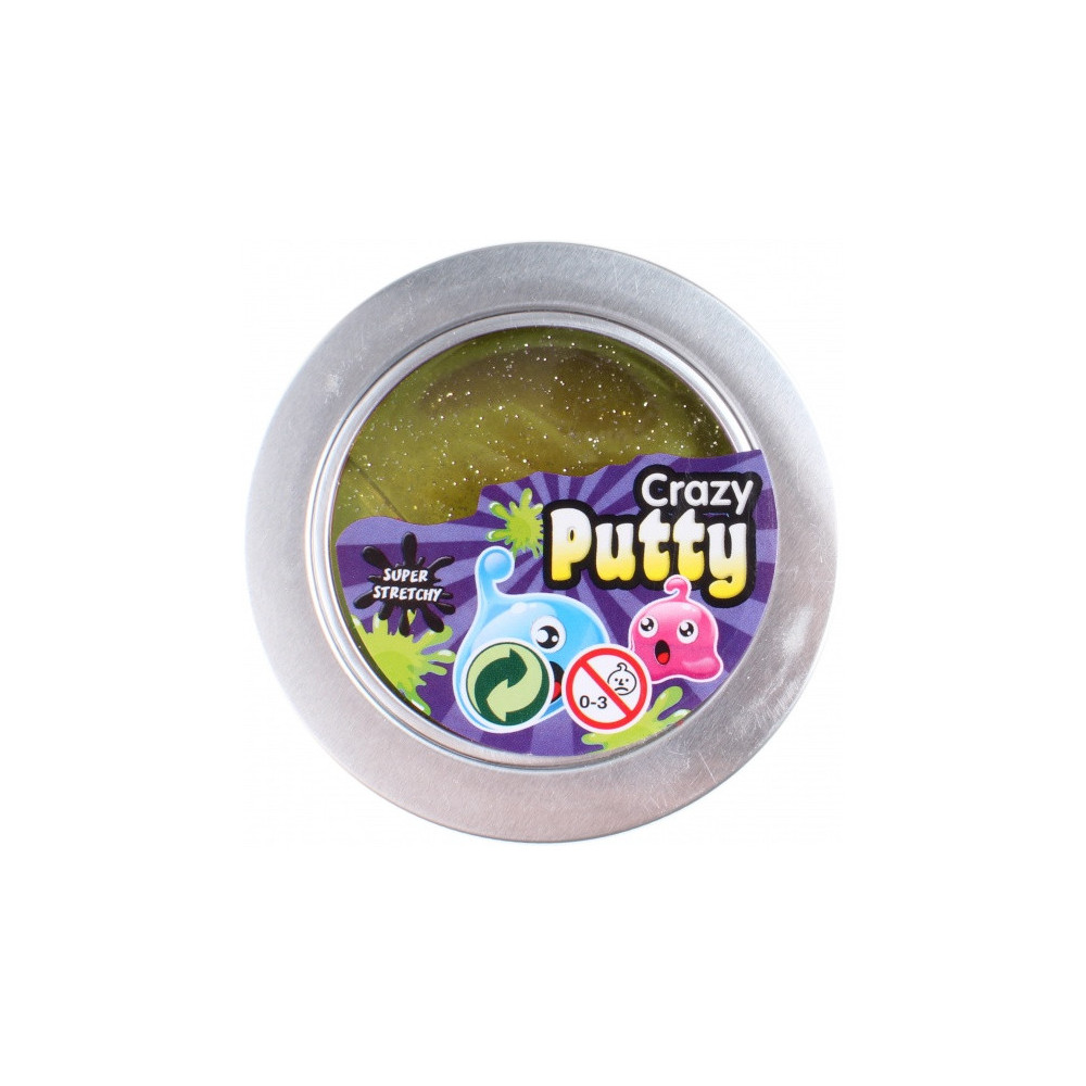 Glitterslijm Crazy Putty 100 Gram Geel