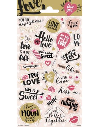 Stickervel Love 25 Stuks Multicolor