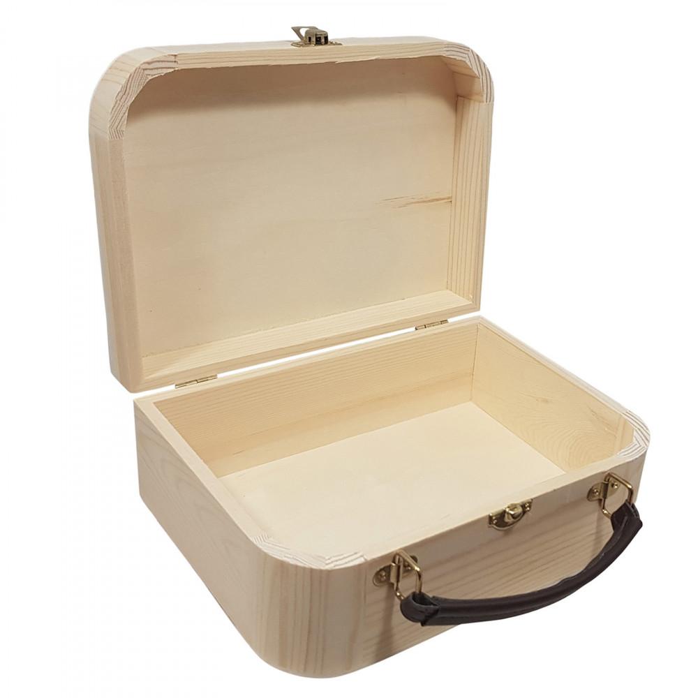 Houten Koffertje Met Handvat