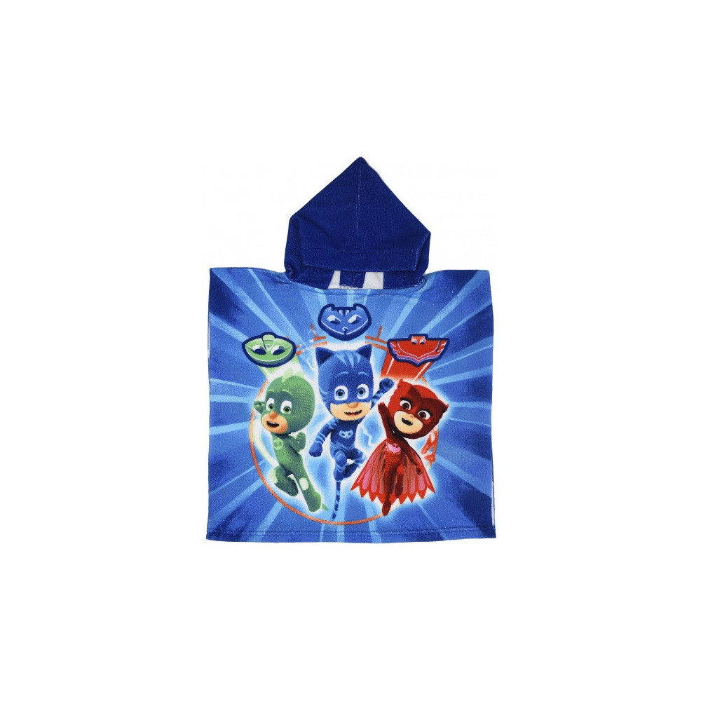 Badponcho It's Time To Be A Hero Blauw 50 X 100 Cm