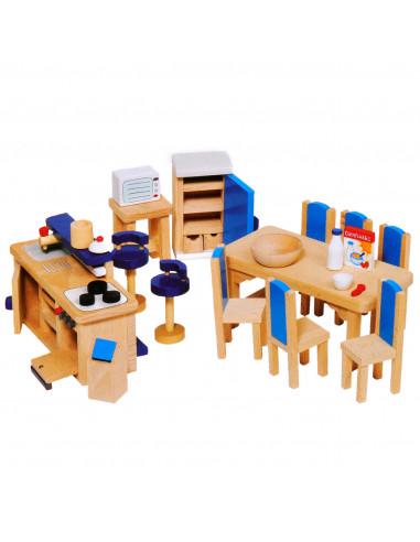Goki Houten poppenhuis meubel keuken...