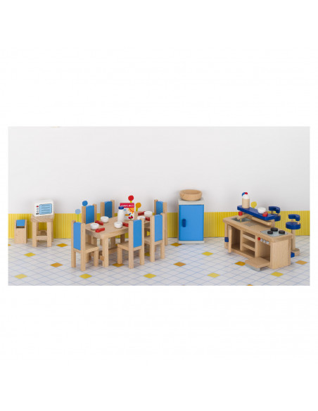 Goki Houten poppenhuis meubel keuken - 30 delig