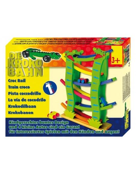 Base Toys houten knikkerbaan krokodil