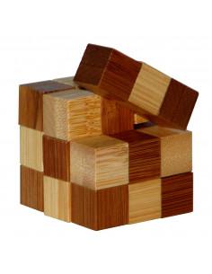 3D Bamboo Breinpuzzel Snake Cubes **
