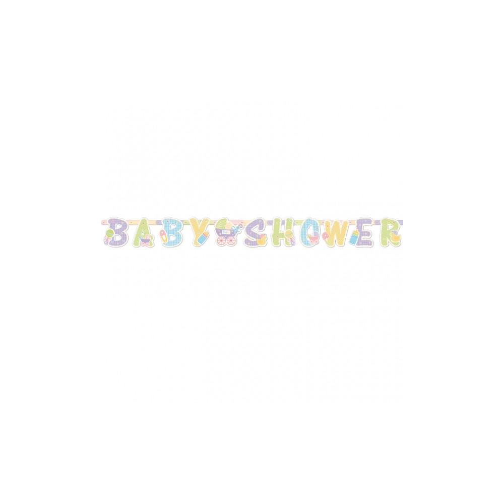 Babyshower Letterslinger 1,87 m x 17,7 cm