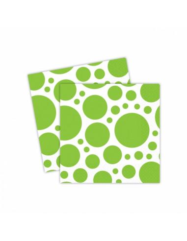 Groen Gestipte Servetten 20st. 33cm