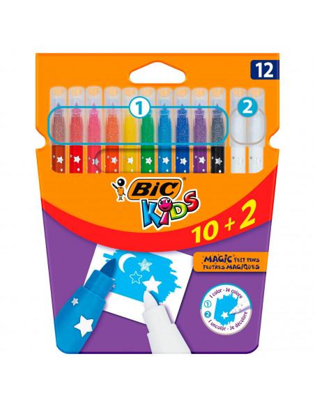 BIC Kids Kleuren en Uitwissen, 10 + 2 gratis