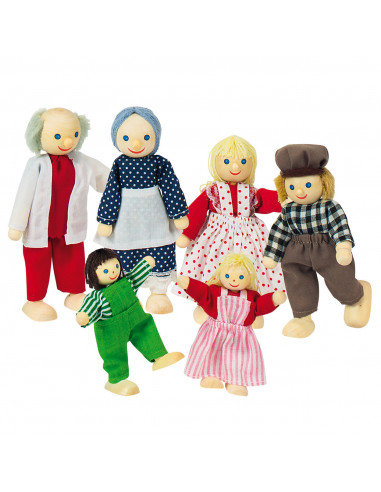 Goki poppenhuispopjes boerenfamilie