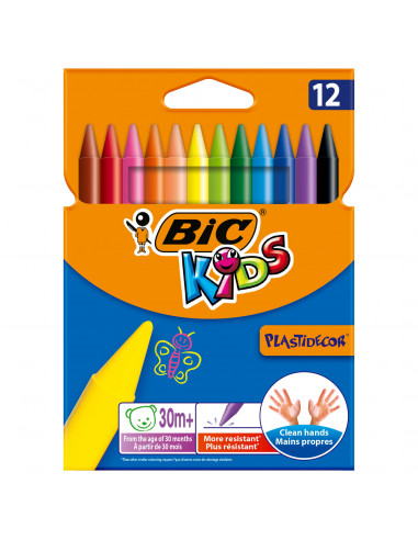 BIC Kids Plastidecor Kleurkrijt, 12st.