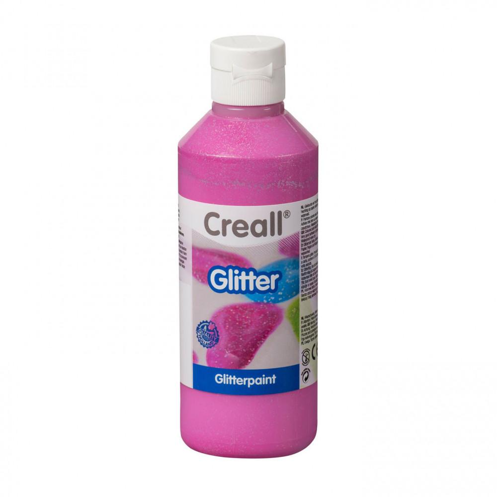 Creall Glitterverf Roze, 250ml