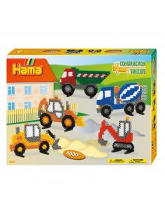 Hama Strijkkralenset - Werkvoertuigen, 4000st.