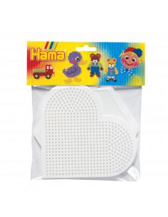 Hama Strijkkralenbordjes - Hart en Zeshoek Groot