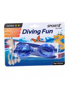 SportX Kids Zwembril Comfort - Blauw