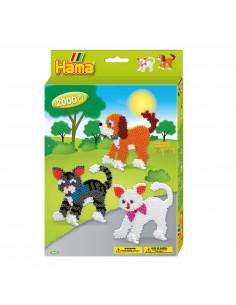 Hama Strijkkralenset - Honden en Katten, 2000st.