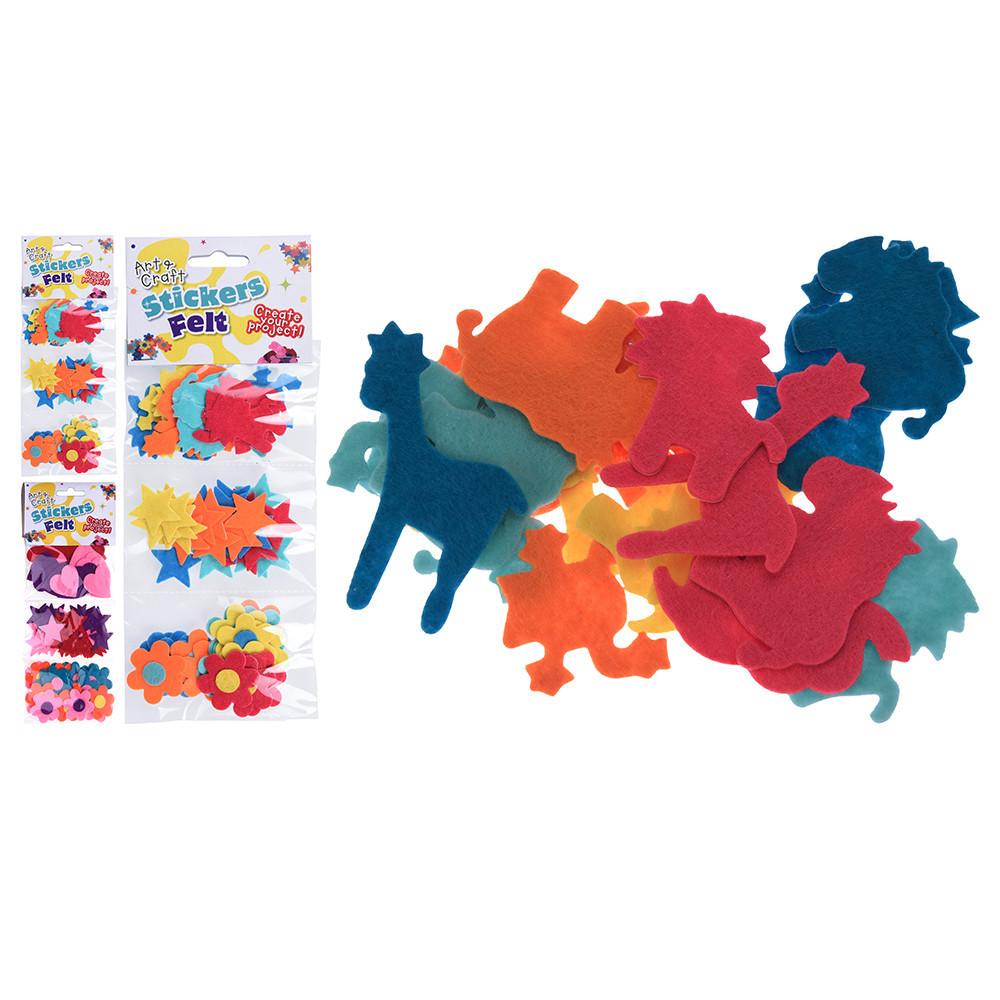 Vilt Sticker Gekleurd