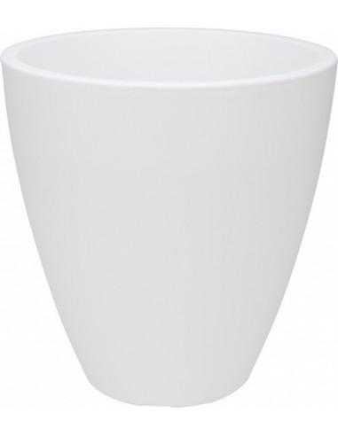 Bloempot Modern Kunststof Wit BT