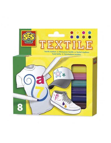 Ses Creative Textielstiften, 8st.