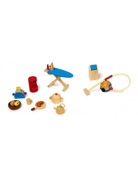 Goki houten poppenhuis keuken accessoires
