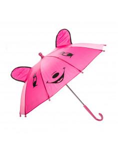 Vrolijke Dieren Paraplu - Roze