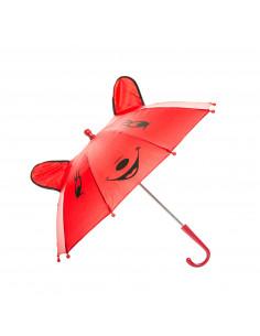 Vrolijke Dieren Paraplu - Rood