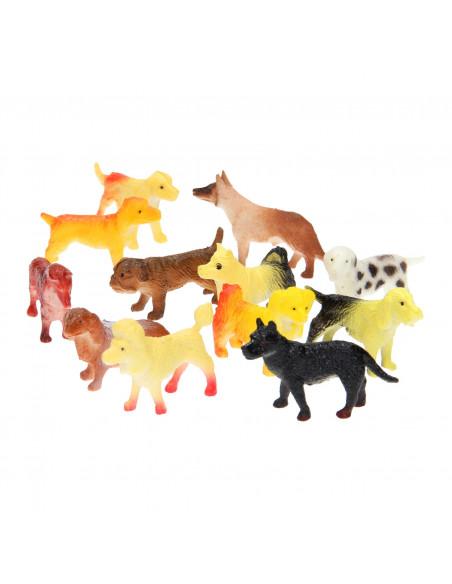 Speelfiguren Honden, 12st.