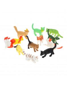Speelfiguren Katten, 12st.