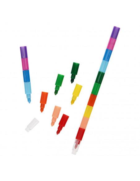 10-in-1 Waskrijt Pen, 2st.