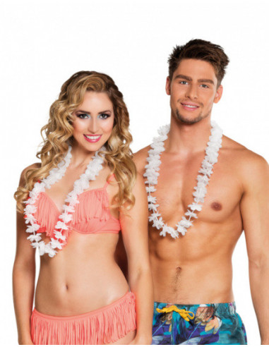 Hawaiikransen Polyester Wit One-size...