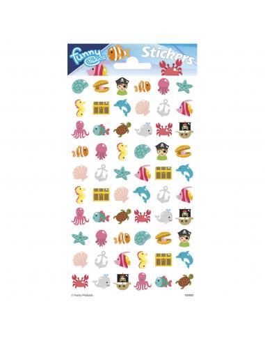 Stickervel Puffy Oceaan