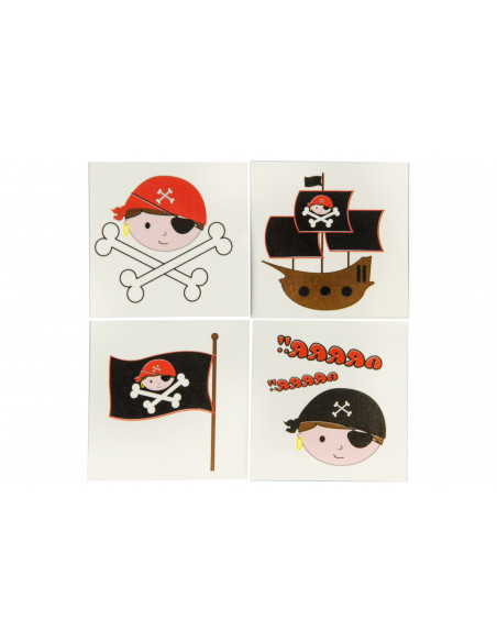 Plak Tatoeage Piraat