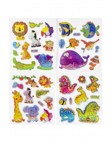 Stickers Dieren Glinsterend Hip