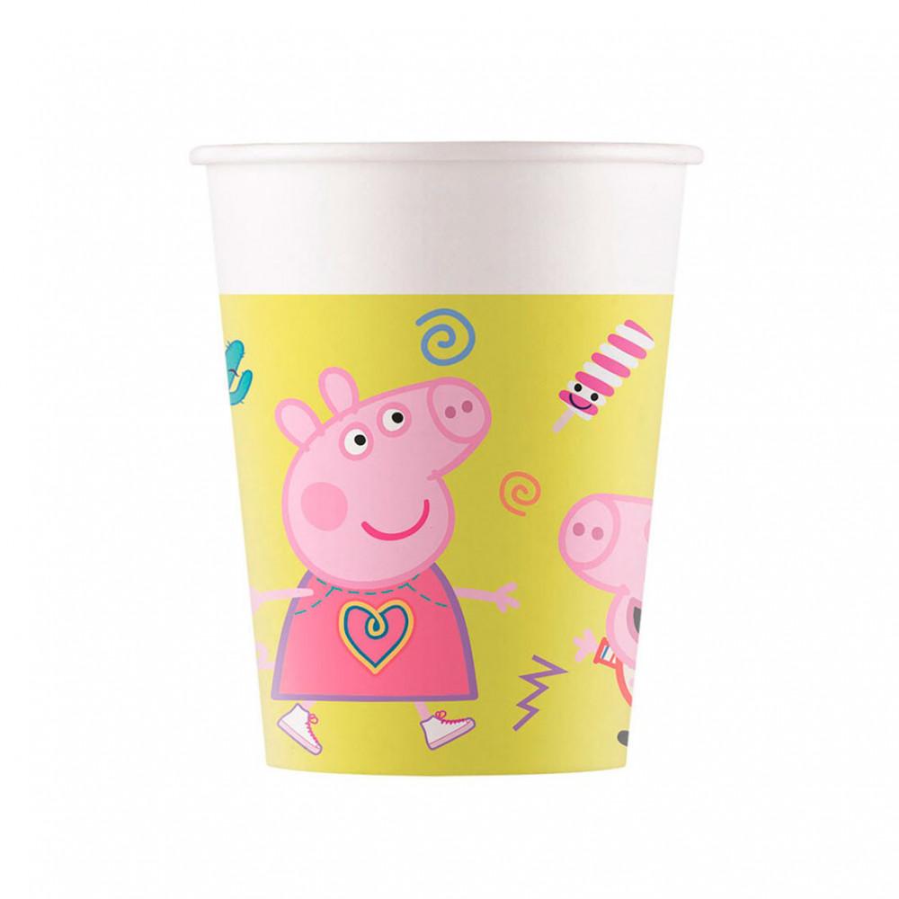 Bekers Peppa Pig, 8st.