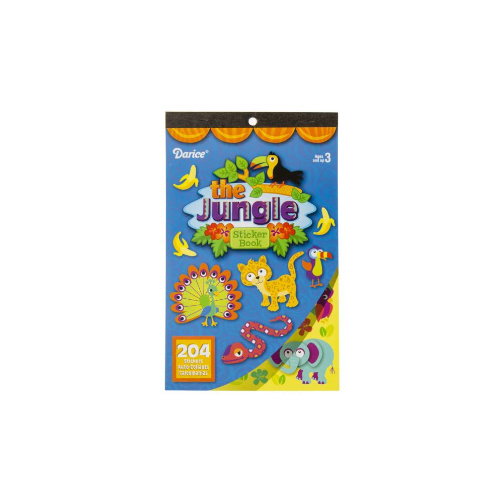 Stickerboek Jungle Junior Karton Blauw 204 Stickers
