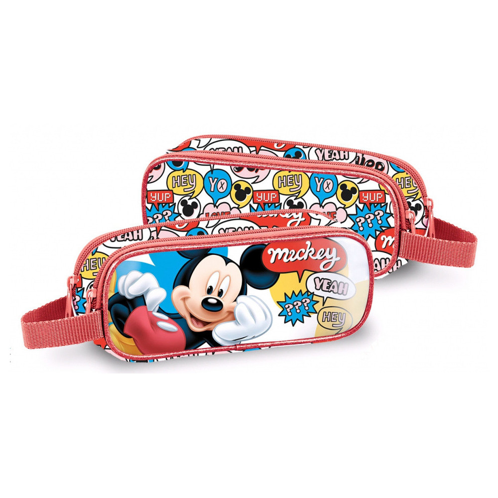 Etui Mickey Mouse Junior 23 Cm Polyester/PVC Rood