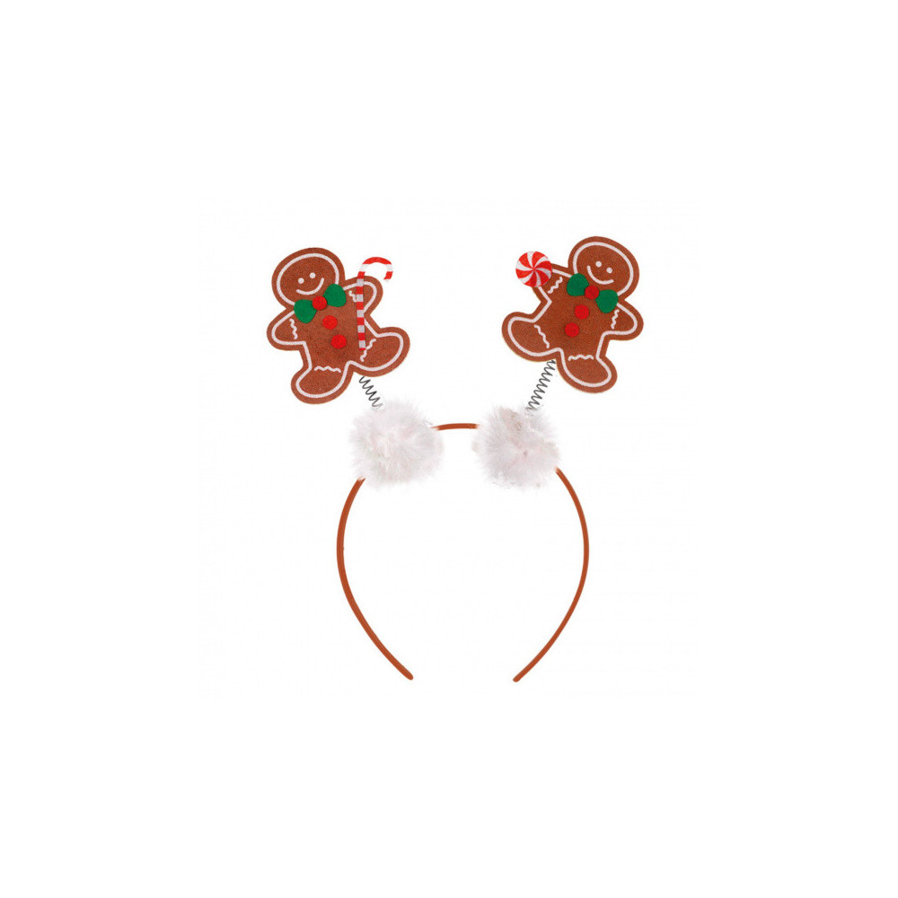 Haarband Gingerbread Wit/bruin One-size
