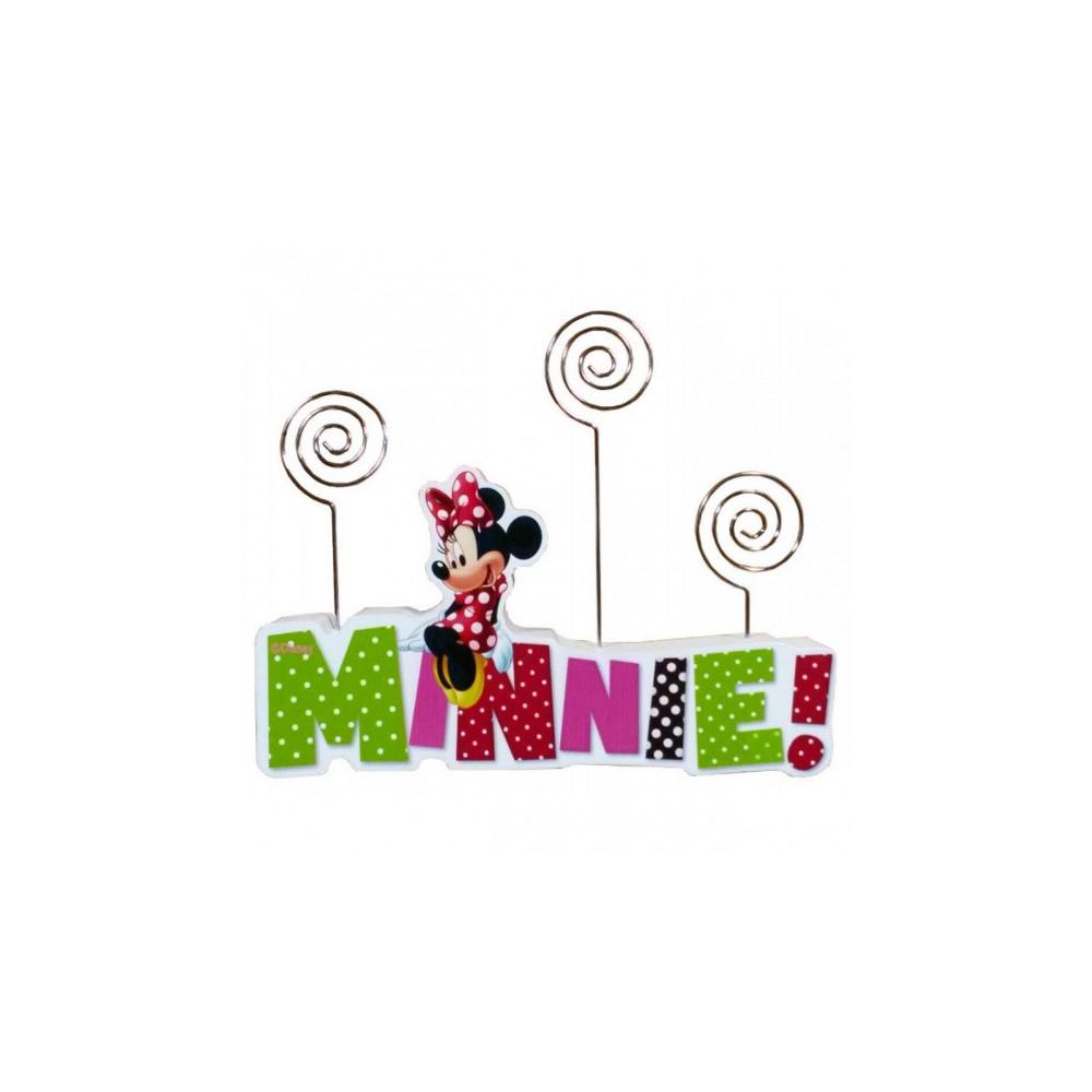 Fotohouder Minnie Mouse Meisjes 18 Cm Hout Roze/groen