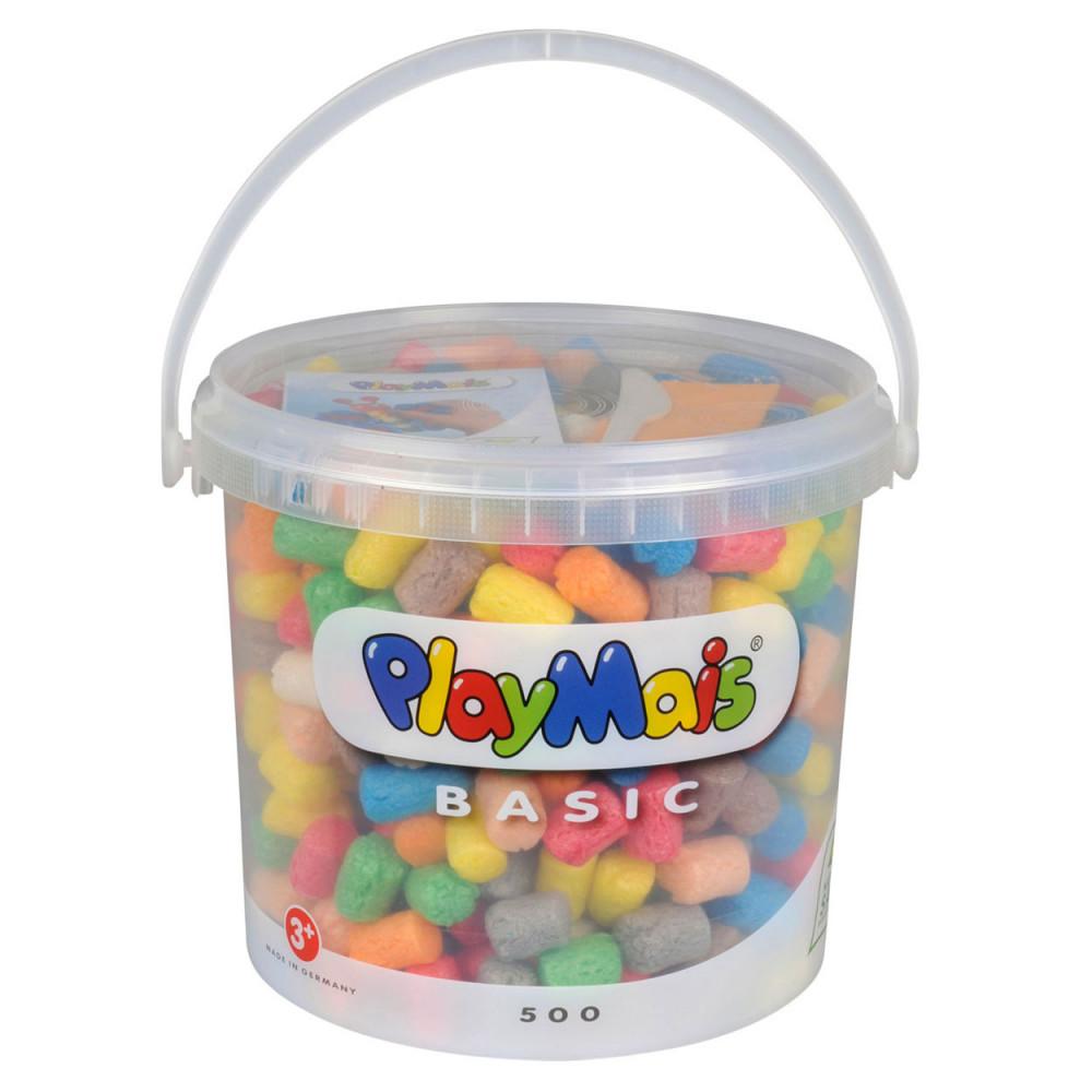 PlayMais Basic Emmer 5 Liter (meer dan  500 Stukjes)