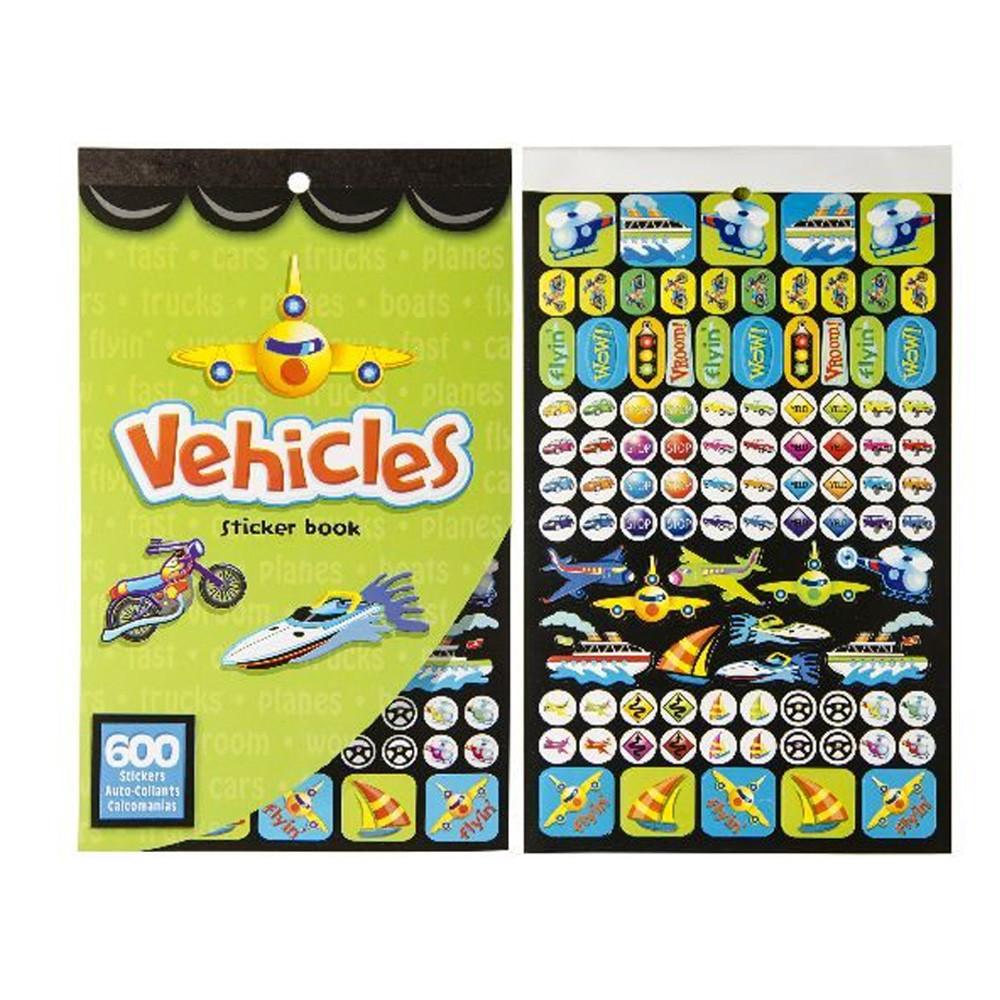 Stickerboek Voertuigen 600 Stickers