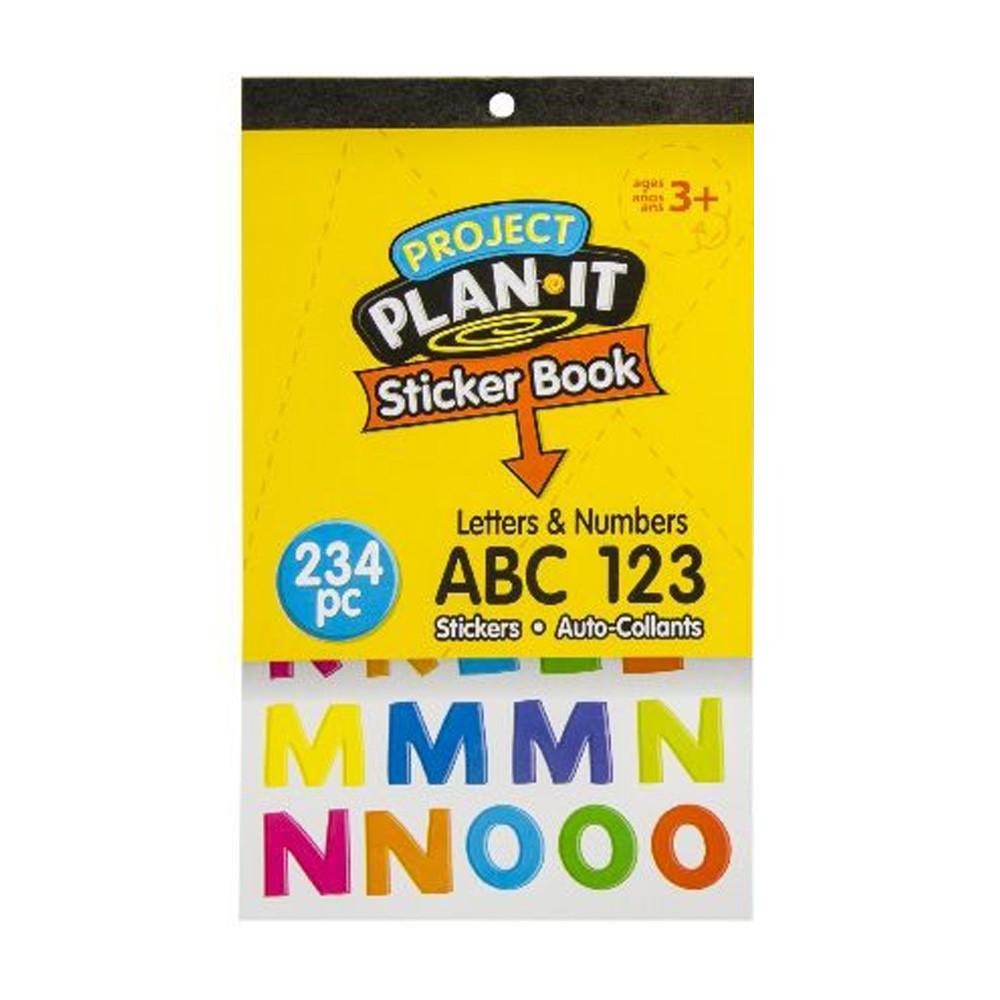 Stickerboek Letters en Cijfers 234 Stickers