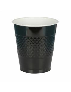 Zwarte Plastic bekers 10st. 355ml