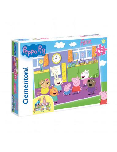 Clementoni Vloerpuzzel Peppa Pig, 40st.