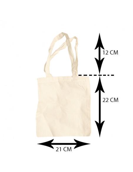 Klein Katoenen Draagtasje - Blanco 21cm x 22cm