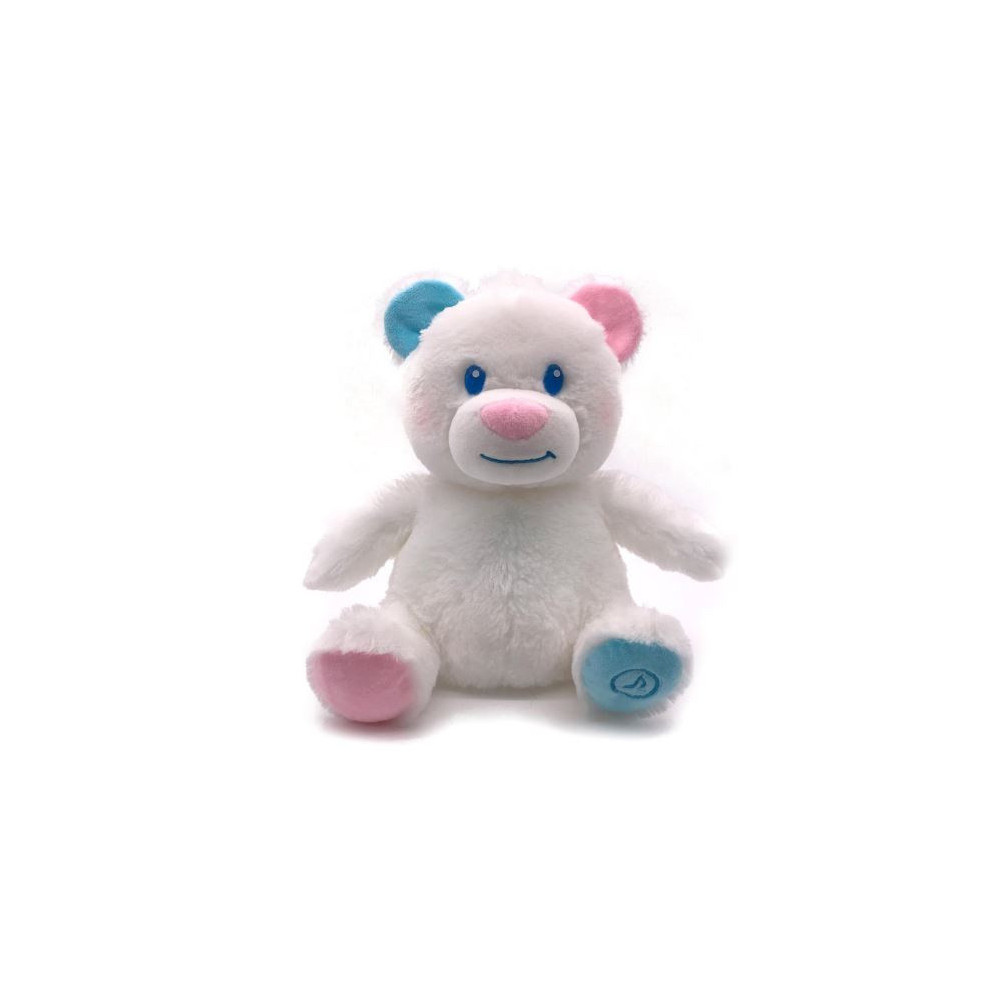 Knuffel Magicalin Baby Beer 18 Cm Pluche Wit