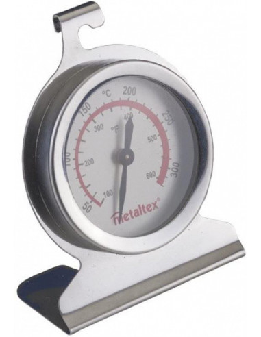 Oventhermometer 6 Cm RVS Zilver