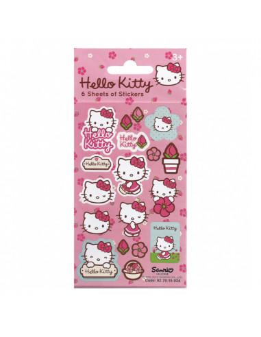 Stickervel Hello Kitty 6 Vellen