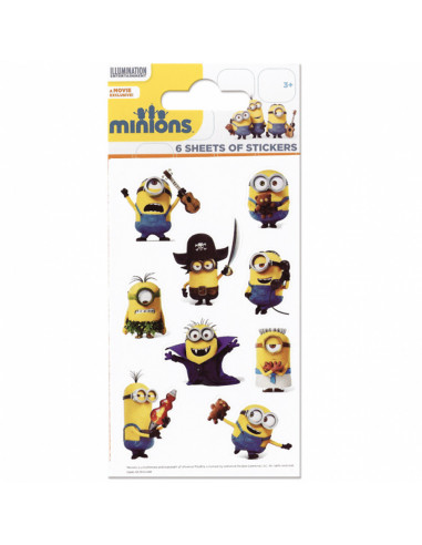 Stickervel Minions 6 Vellen
