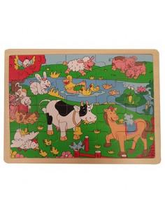 Puzzel Koe Paard