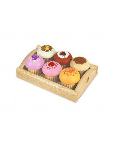 Houten Dienblad met Muffins