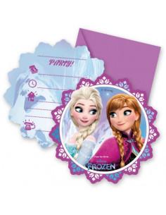 Disney Frozen Lights Uitnodiging 6st.