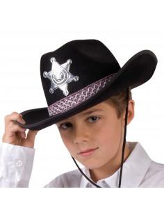 Kinderhoed Sheriff Zwart